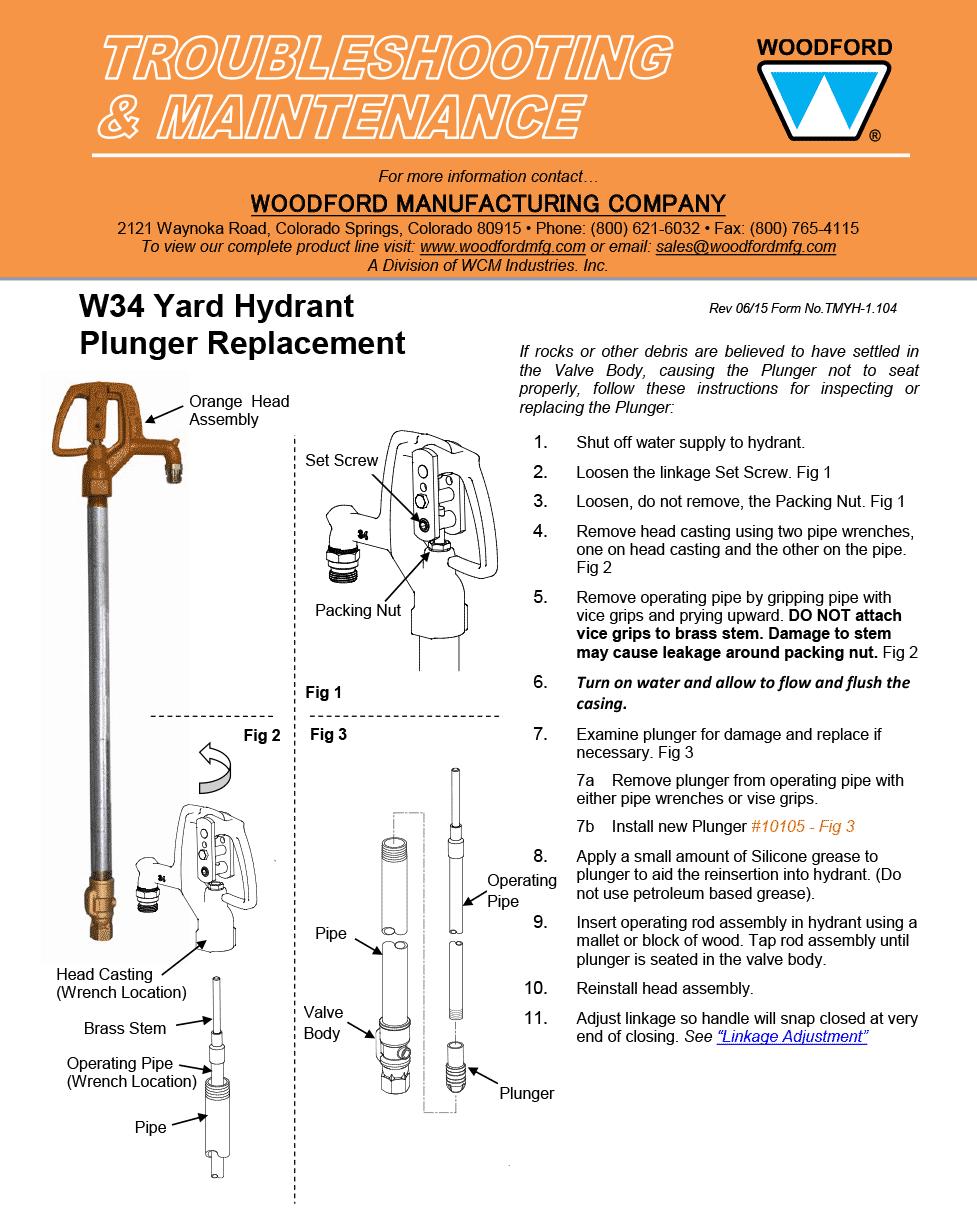 Woodford Model W34 Freezeless Yard Hydrant