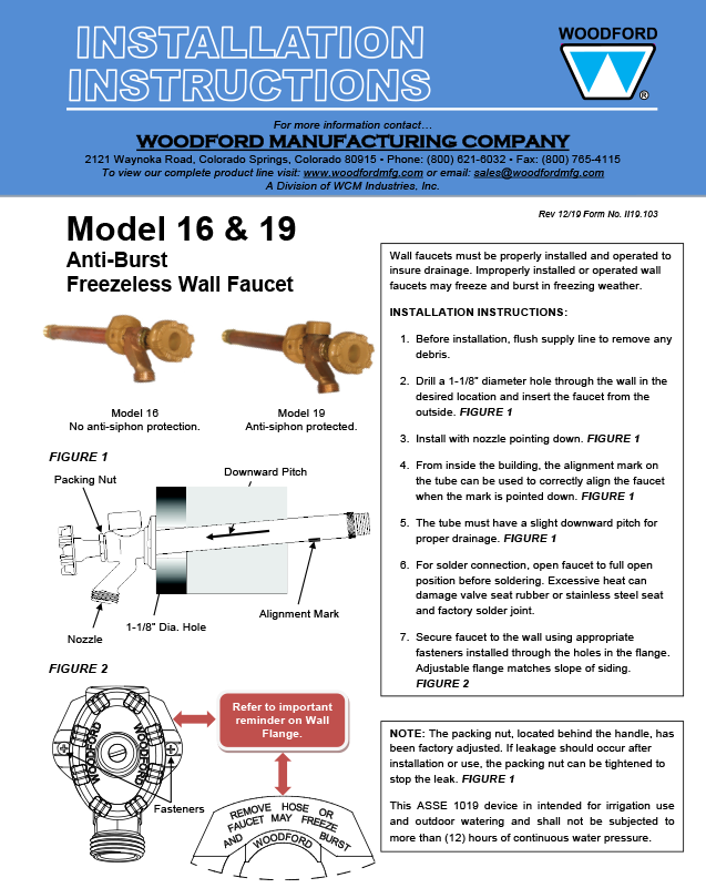 Woodford Faucet Model 17 28 Images