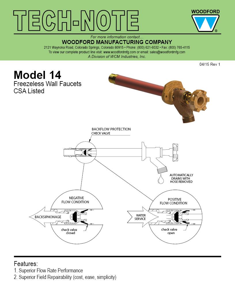 Woodford Model 14 Freezeless Faucet