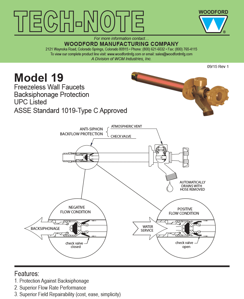Woodford Model 19 Freezeless Faucet