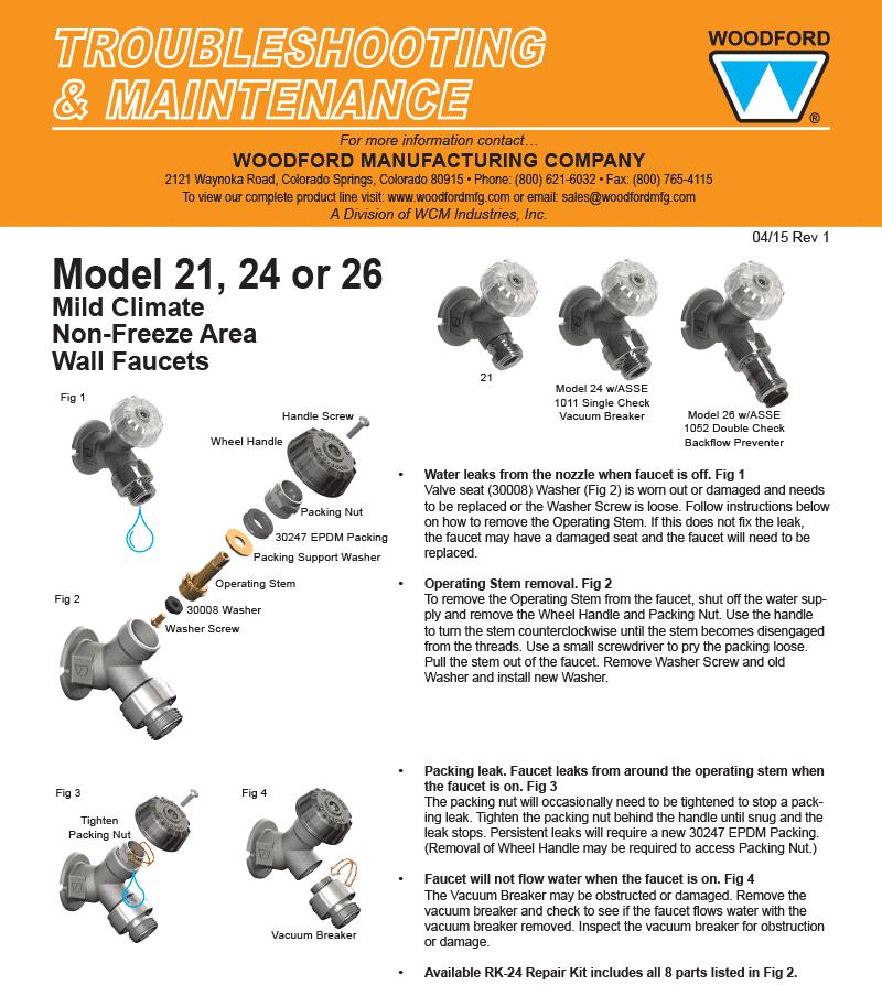 Woodford Model 21 Wall Faucet