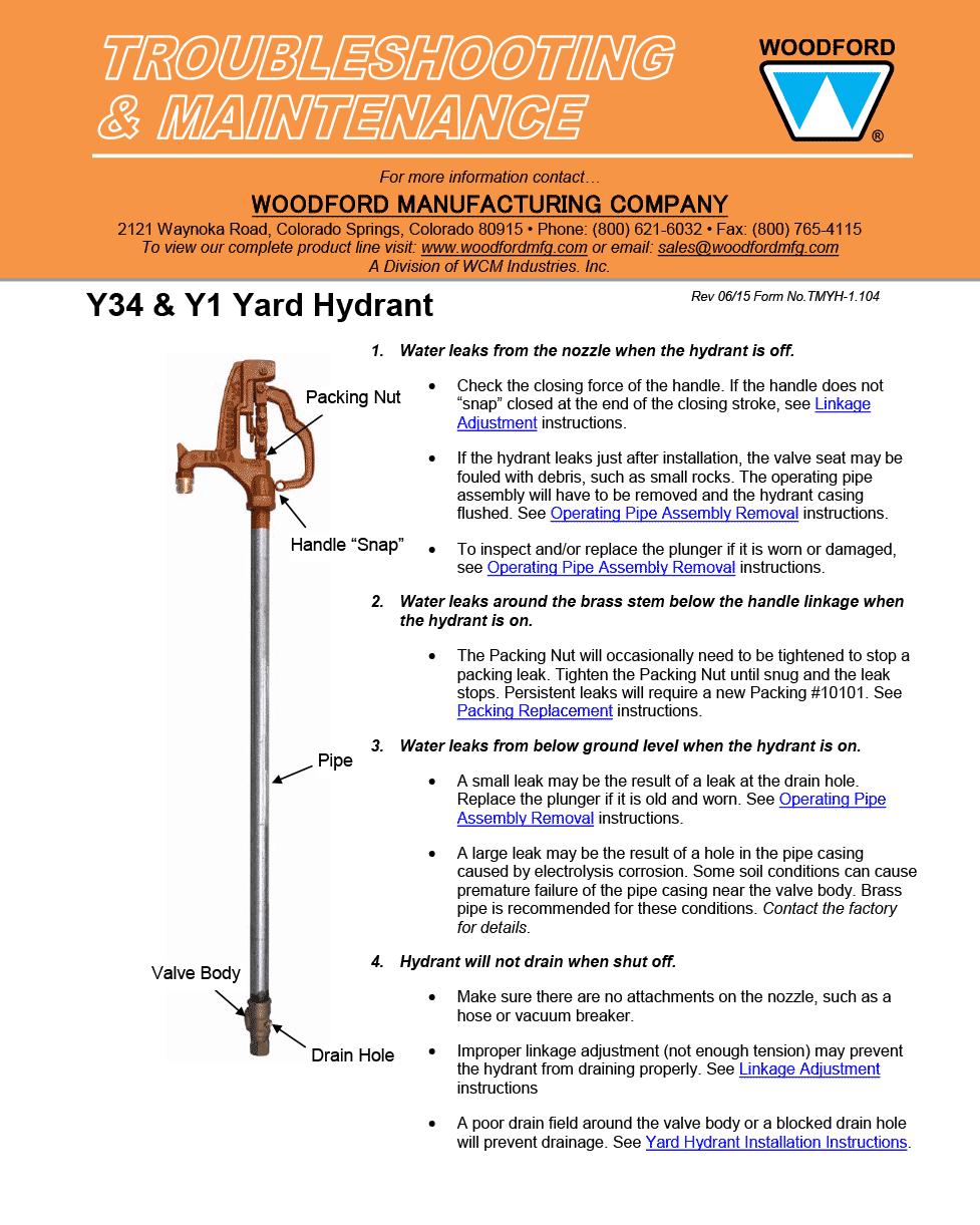 simmons yard hydrant. Woodford Model Y34 \u0026 Y1 Freezeless Hydrant Videos Simmons Yard D